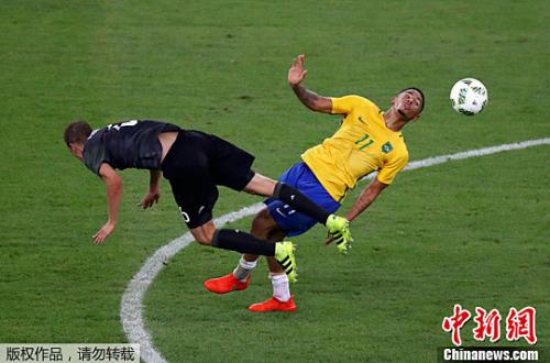 巴西队和德国队比赛现场。
