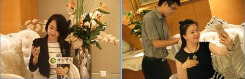 描绘总监陈瑾引见著作故事、主顾正在试戴制定著作
