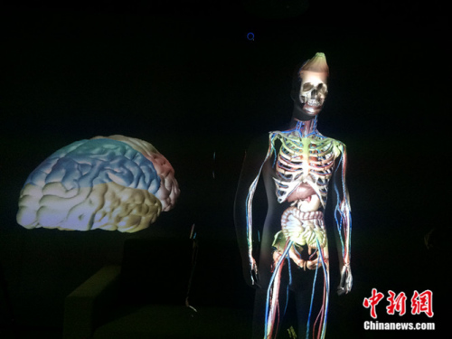 触景无限实验室探索AR技术在医疗领域的应用。中新网 邱宇 摄