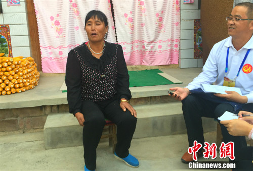 武玉萍承受记者采访。中新网 种卿 摄