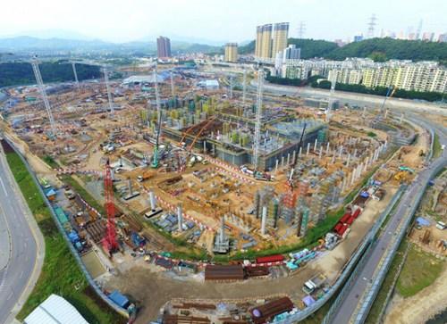 莲塘/香园围港口修建工程。图像来历:陈茂波网志