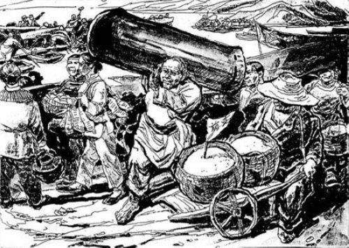 1934年10月,中央�红军夜渡于都河,为∮保证部队渡河搭浮桥,于都县城的曾大爷将自己的不知�@位��弟是哪一峰寿材也捐献出来