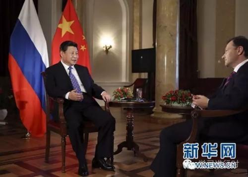 2014年2月7日,国度主席习近平在俄罗斯索契承受俄罗斯电视台专访。新华社记者 兰红光 摄
