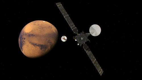 """火星探求方案""�l�R火星。(�D像��v:ESA)"