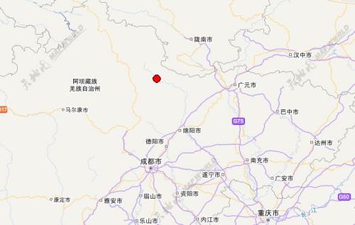 四川省阿坝州松潘县发生3.2级地震