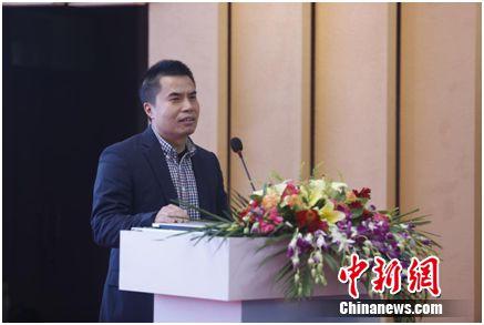 荣耀产品总经理熊军民发表讲话。主办方供图