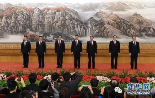 2012年11月15日,新一届中央政治局常委同中外记者见面。新华社记者谢环驰 摄