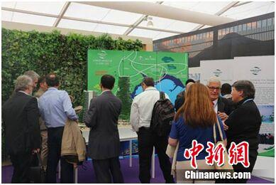 马来西亚馆的森林城市展厅吸引各国代表参观