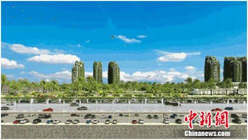 森林城市分层立体交通效果图