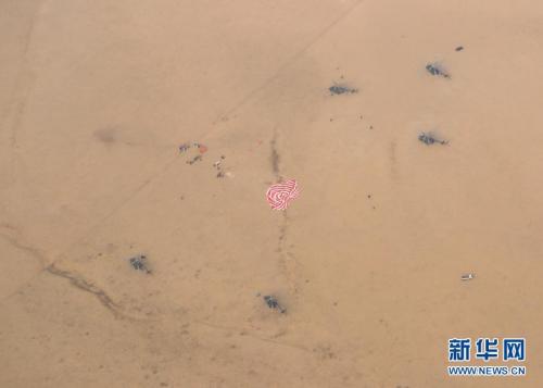 11月18日,神舟十一号载人飞船前往舱在内蒙古主着陆场胜利着陆。新华社记者 李刚 摄 图像来历:新华社