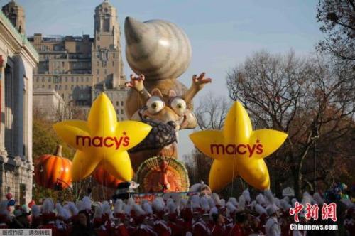 资料图:感恩节游行