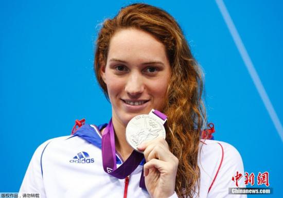 材料图:卡米亚・穆法特。她曾取得2012年伦敦奥运会400男子自在泳金牌,仍是奥林匹克静止会男子400米自在泳国际纪录持有者。