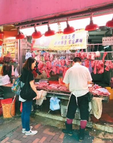 香港肉店一瞥 陈然摄