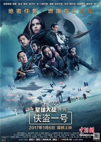 《星球大战外传:侠盗一号》海报