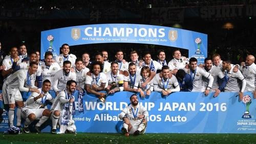 皇家马德里获得由Alibaba YunOS Auto冠名的2016世俱杯冠军