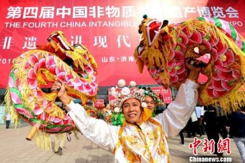 图为第四届中国非遗博览会在济南开幕。(资料图) 梁犇 摄
