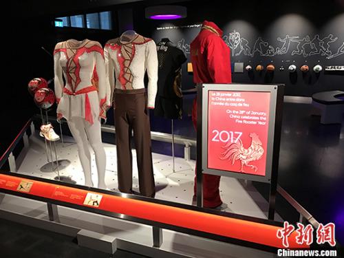 奥林匹克博物馆内的国家元素。 中新社记者 沈晨 摄
