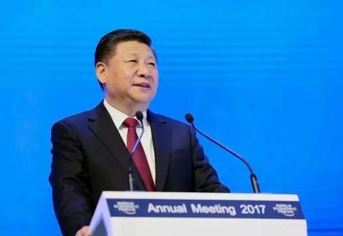 1月17日,国家主席习近平在瑞士达沃斯国际会议中心出席世界经济论坛2017年年会开幕式,并发表主旨演讲。 新华社记者 兰红光 摄