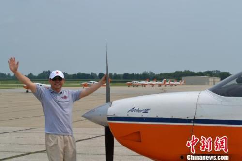 美国通用航空公司董事长张博将开启环球飞行。 陶煌蟒 摄