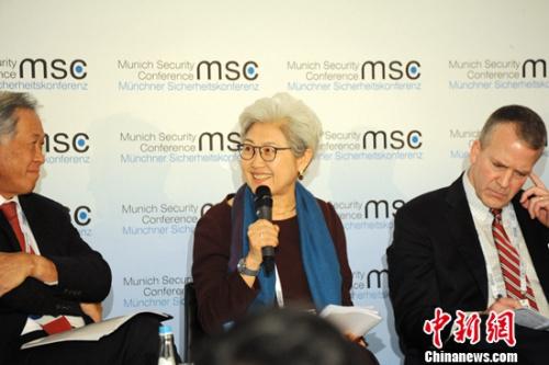 傅莹出席慕安会辩论亚太安全问题