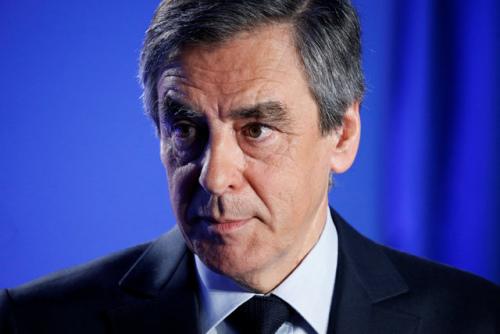 资料图:法国大选候选人菲永。(图片来源:路透社)