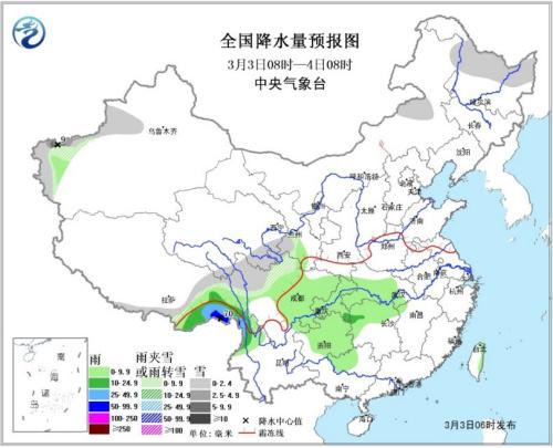 Poor huanghuai diffusion conditions of north China Jiangnan south China will have obvious precipitation process