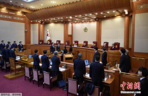 韩国法院庭审。