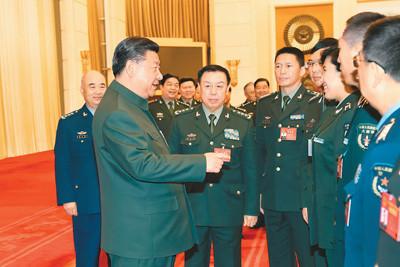 """从两会通稿看习主席如何""""标红""""军队建设重点"""