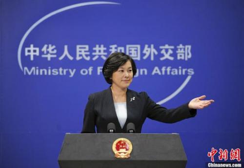资料图:中国外交部发言人华春莹。发 刘震 摄