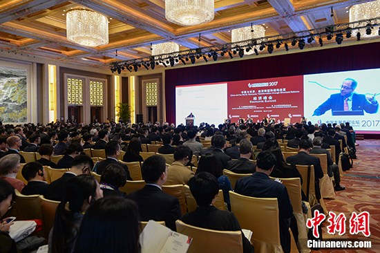 3月18日,国家开展高层论坛2017年会本日起在北京举办。 中新社记者 崔楠 摄