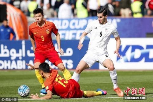 3月28日,伊朗阿扎迪球场,2018世预赛亚洲区12强赛,中国男足客场对阵伊朗队。图片来源:视觉中国