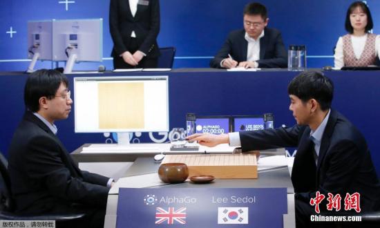 """李世石与AlphaGo的""""人机大战"""""""