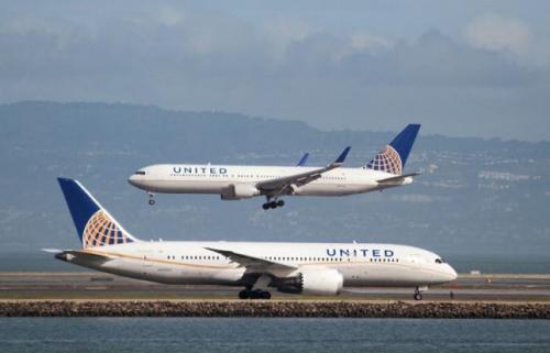 资料图:美联航客机。(图片来源:路透社)