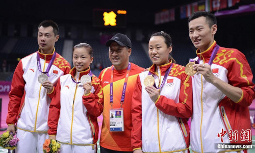 2012年伦敦奥运会是李永波执教生涯最辉煌的时刻,他带领中国队包揽全部5枚金牌。中新社记者 廖攀 摄