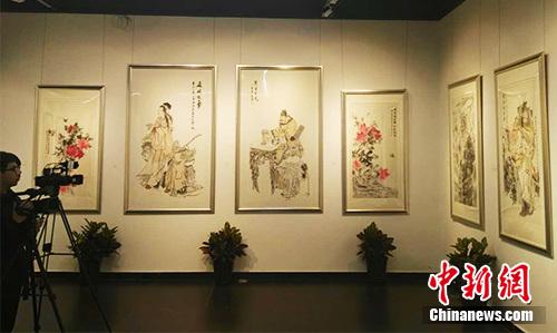 画展现场。记者 宋宇晟 摄