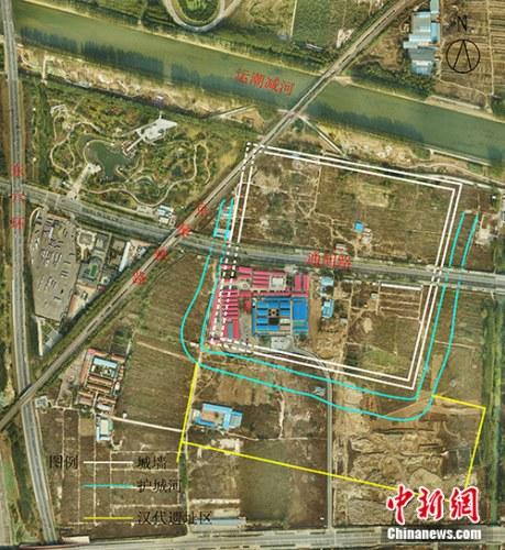 路县故城城址平面示意图。主办方供图