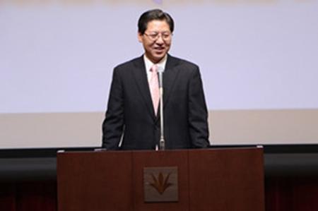 刘少宾公使致辞。(图片来源:中国驻日本大使馆网站)