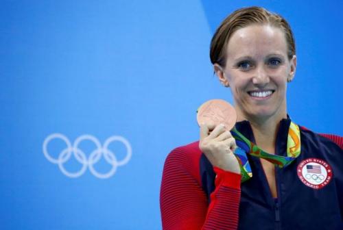 资料图:沃尔默在里约奥运会上获得奖牌。