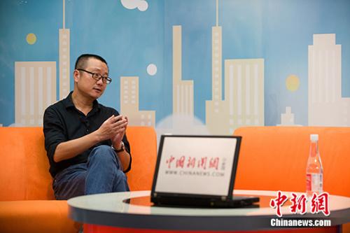 资料图:刘慈欣。记者 李卿 摄