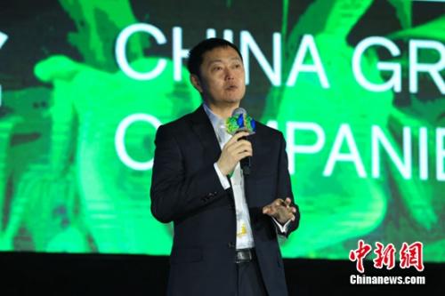 """链家集团董事长左晖在""""2017中国绿公司年会""""上发表演讲"""