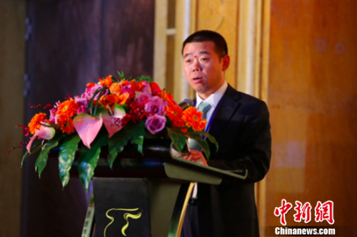 中国鑫达董事总经理兼首席执行官马庆维发言