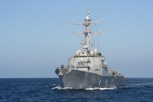 """资料图:美国海军""""马汉号""""驱逐舰。(图片来源:美国海军)"""