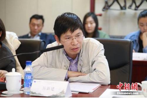 北京第二外国语学院旅游管理学院院长厉新建在会上发言