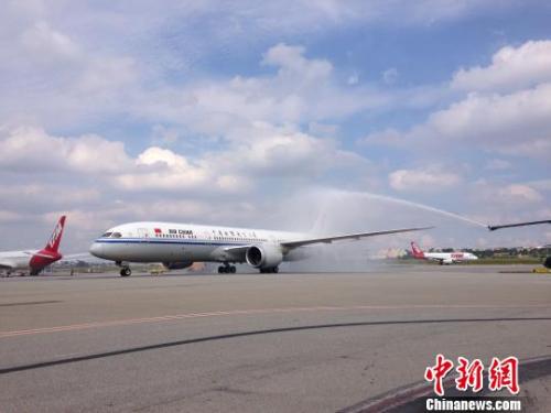 中国国际航空公司波音787-9飞机。(资料图)莫成雄 摄