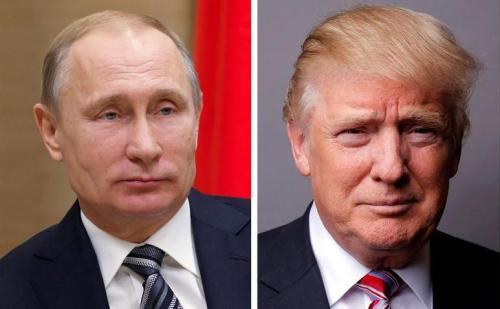 图左:俄罗斯总统普京。图右:美国总统特朗普。