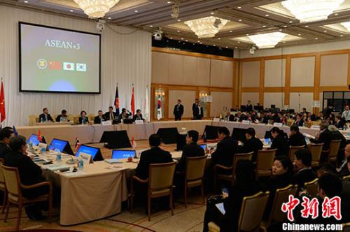第20届东盟与中日韩(10+3)财长和央行行长会议,5月5日在日本横滨举行。中国财政部副部长史耀斌率中国代表团出席了会议。 记者 东友 摄