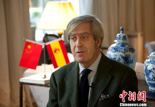 近日,西班牙驻华大使瓦伦西亚(Manuel Valencia)在北京接受<a target='_blank' href='http://www.chinanews.com/'>中新社</a>记者专访。<a target='_blank' href='http://www.chinanews.com/'>中新社</a>记者 刘关关 摄