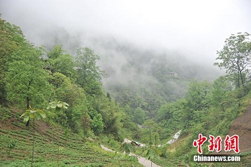 雨后的板厂村。/p中新网记者 宋宇晟 摄