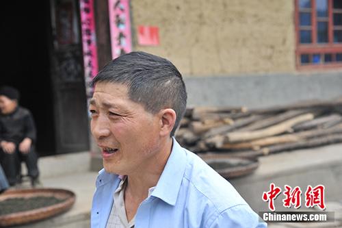 板厂村村民王兴云。/p中新网记者 宋宇晟 摄