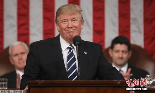 资料图:美国总统特朗普在国会发表演讲。
